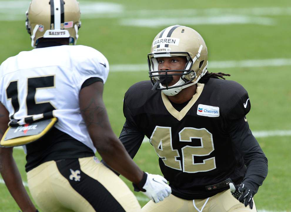 Former Saints safety Pierre Warren joins the Vikings' practice squad _lowres
