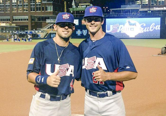Banks and Hendrix represent A&M baseball for team U.S.A.