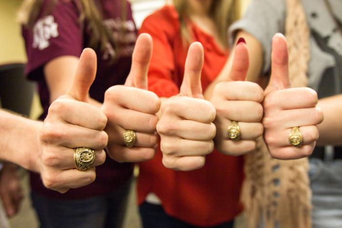 B-CS pawn shops inspect Aggie Rings with trained eye