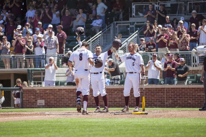 A&M baseball whips Missouri 14-6 to clinch weekend series: With LSU loss, Aggies move to top of SEC West standings