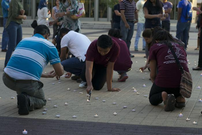Nepalese Student Association hold candlelight vigil for earthquake victims