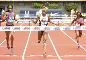 <p>A&M sophomore, Shamier Little, winning the national title in the 400m hurdles. </p>