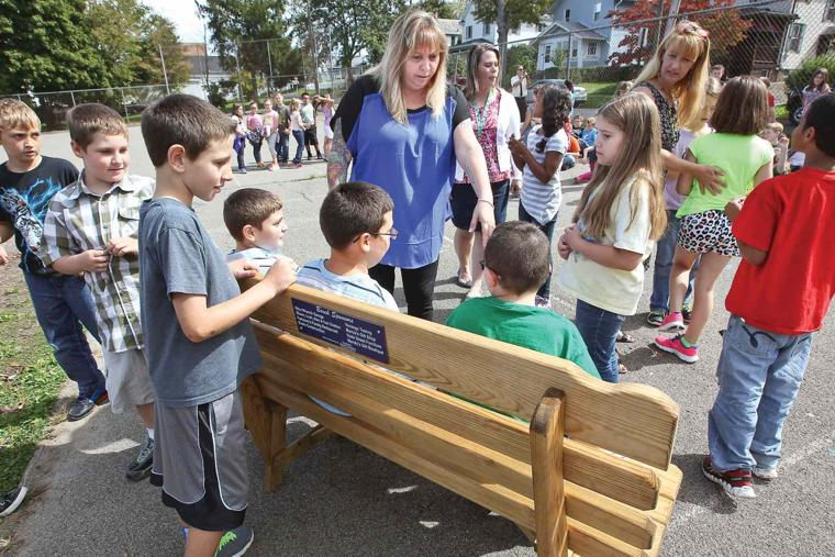 parent donates  buddy benches  for oil city elementary students  parent donates 39buddy benches39 for oil city elementary students