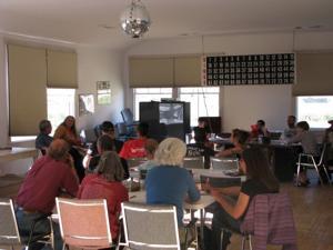 Discussing the pro bike tour coming through Alma Aug. 24