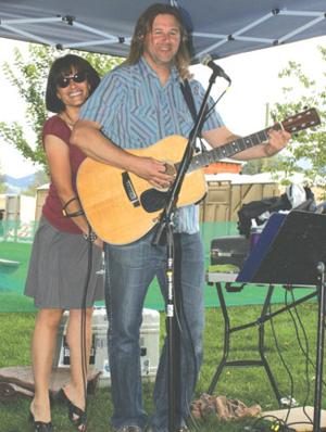 Chris Nasca plays for the wine festival