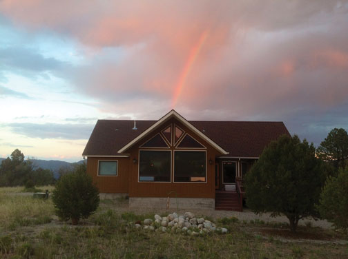 Rainbow on Red House