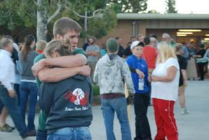 Vigil at Buena Vista High School