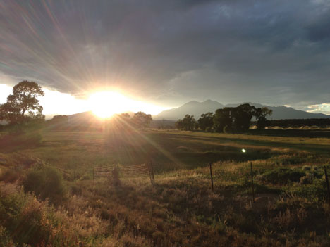 Sunset Over Shavano