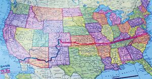 Route across America