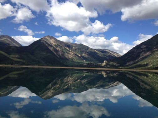 Mountain and Sky Reflections