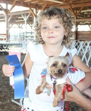 Hailey Roberts, 4, and her Yorkie, Princess