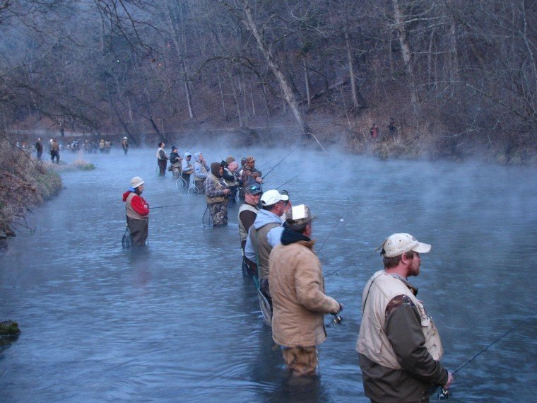 Opening Day 2012, anglers await the buzzer