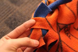 No Sew Blanket Step 5