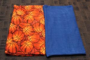 No Sew Blanket Step 1