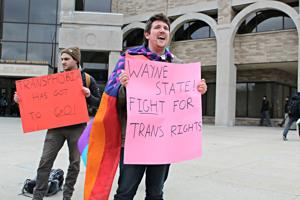 SDS organizes rally for all-gender restrooms at Wayne State