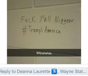 Racist graffiti left on WSU public bathrooms