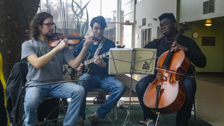 String Avenue performing at the Mort Harris Recreation Center