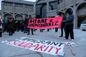 BAMN, SOS, SJP, Amnesty protest march in Gullen Mall