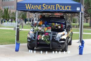 WSUPD Officer Collin Rose memorial and vigil