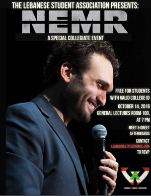 LSA to host event with Lebanese American comedian