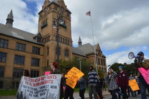 Organizations protest for civil rights activist