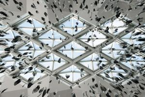 """""""Light as a Feather"""" falls from McGregor Memorial's ceiling"""