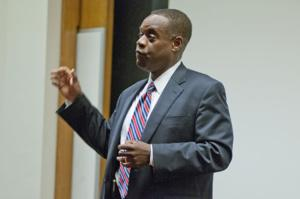 Kevyn Orr speaks to students and faculty on June 25, discussing the historic bankruptcy and the path out.