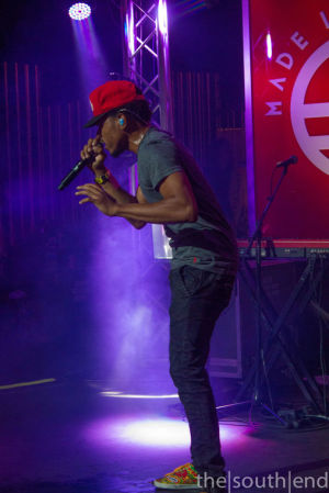 <p>Chance The Rapper performing at the Budweiser 'Made in America' party at theFillmore.</p>