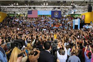 Hillary Clinton brings campaign to WSU