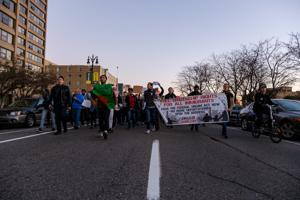 Wayne State students protest president-elect Trump