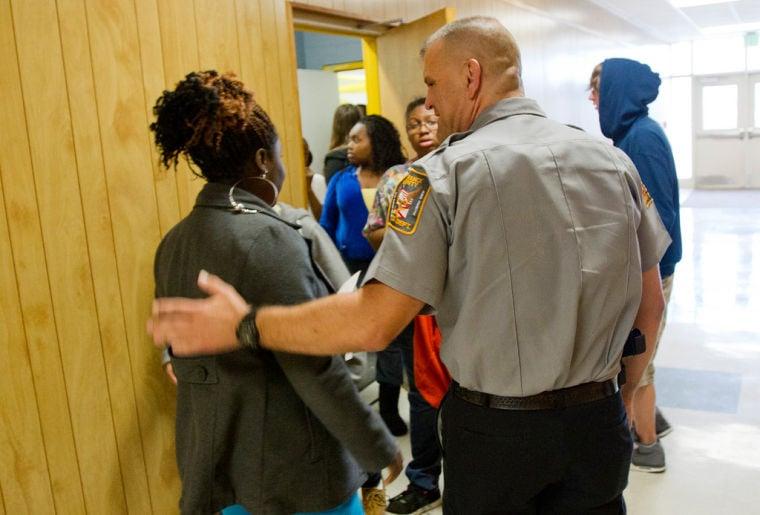 SRO Deputy Vince Hart At R.A. Hubbard School