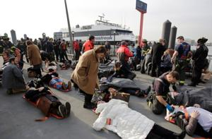 Ferry strikes NYC dock; at least 50 are injured