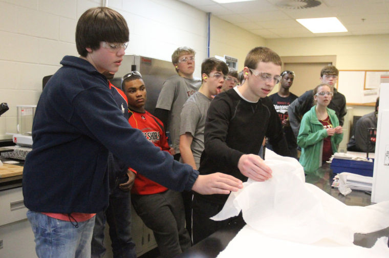 Muscle Shoals 8th Graders Tour SCA Tissue Plant