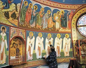 Painting faith: Priest transforms church with ancient art