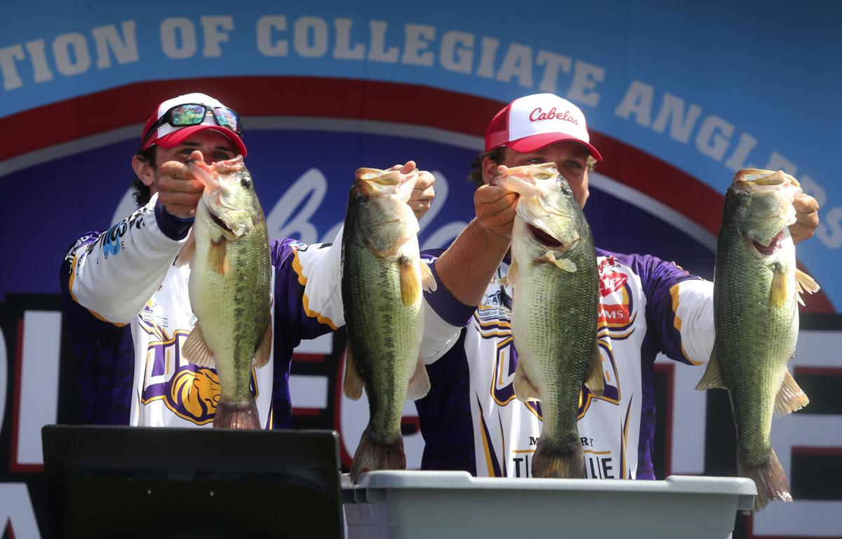 Una team of hunter mccarty slaon pennington win for College bass fishing