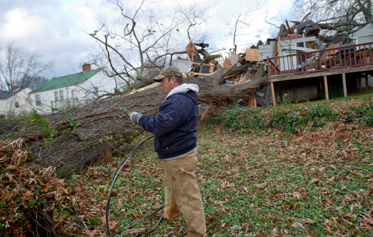 Sheffield Resident Escapes Home Crushed BY Huge Tree