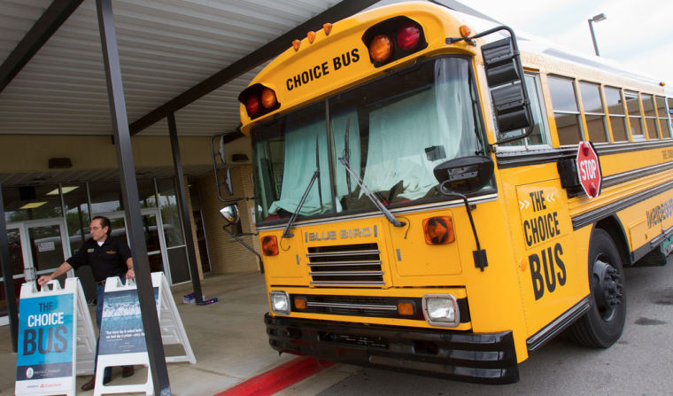 Choice Bus At Muscle Shoals Middle School