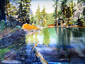 """<p>""""Granite Lake"""" and a retrospective showing of paintings by the late Joy Wiltsee at the Main Street Gallery.</p>"""