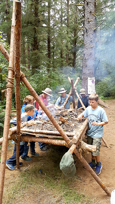 revitalized scout troop volunteers hones outdoor skills clubs and organizations