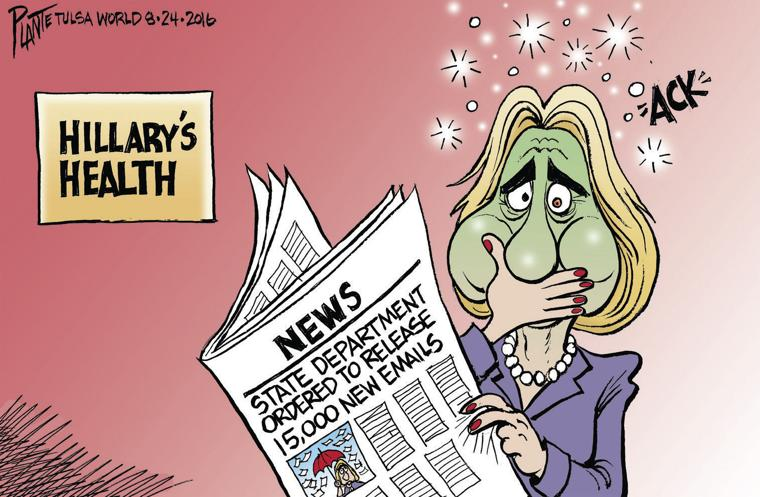 Image result for hillary health cartoons