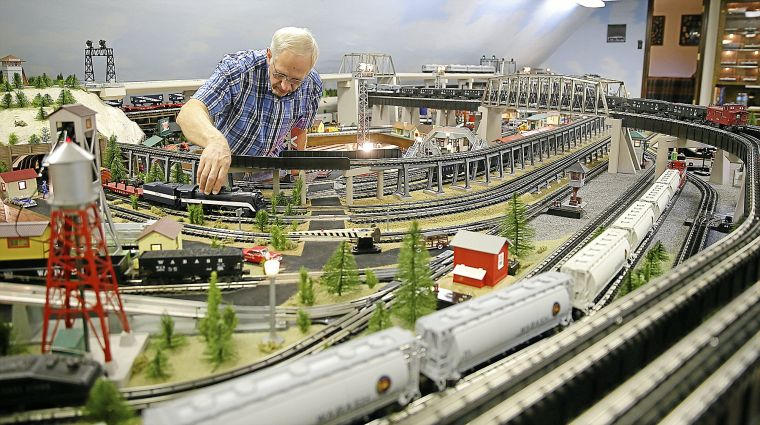 Toy Train Enthusiast Has Keen Interest In His Hobby