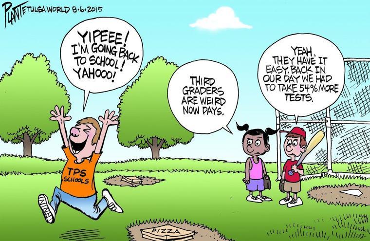 Bruce Plante Cartoon Back To School Tulsa World