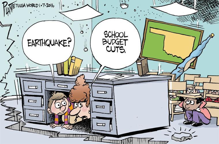 Bruce Plante Cartoon Oklahoma Earthquake Or Tulsa
