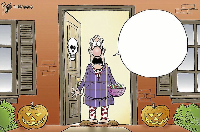 Bruce Plante Halloween cartoons: Scary costumes, flaming ... Funny Halloween Costumes