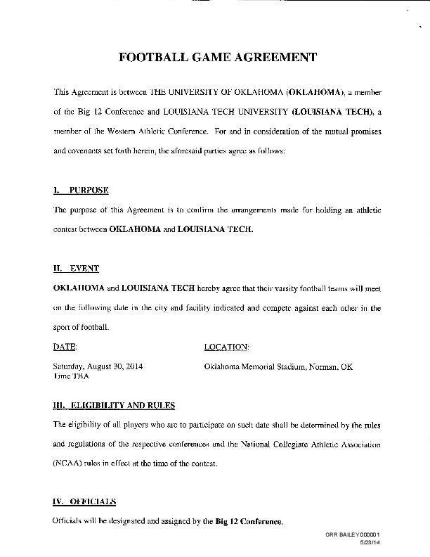 Louisiana Tech at Oklahoma football contract - Tulsa World: Tulsa ...