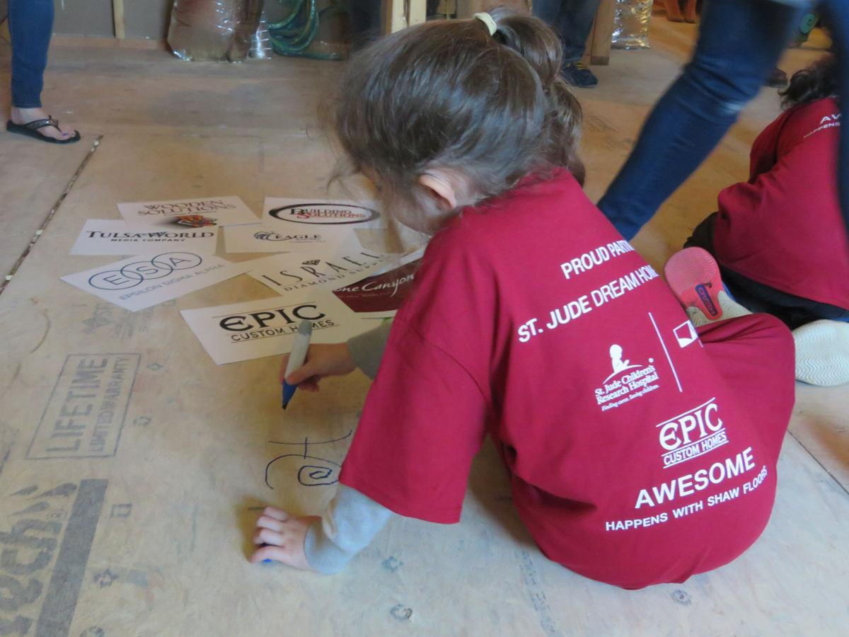 St jude holds milestone floor signing at stone canyon for St jude dream home floor plan