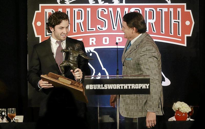 Fan voting burlsworth trophy presentation