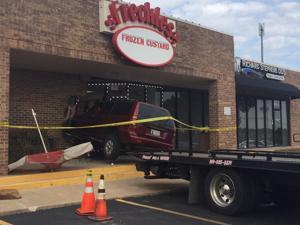 SUV crashes into Freckles Frozen Custard