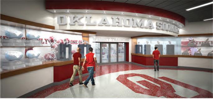 Oklahoma Sooners New Locker Room