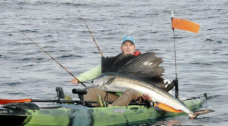 Broken arrow 39 s chris thomas wins florida sailfish for Offshore kayak fishing